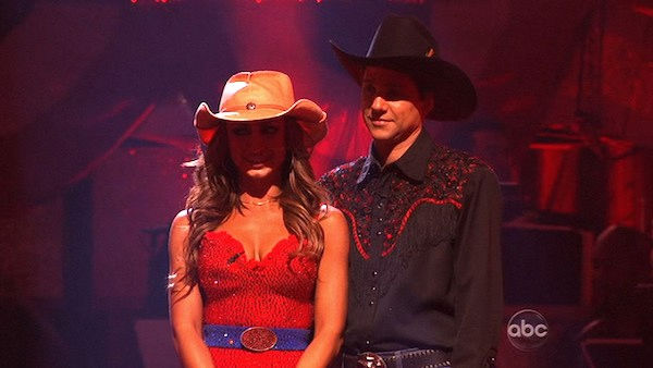 Ralph Macchio and his partner Karina Smirnoff await possible elimination. The couple 22 out of 30 from the judges for their Samba on week five of 'Dancing With The Stars' on Monday, April 18, 2011.