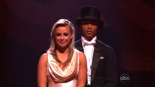 "<div class=""meta ""><span class=""caption-text "">Romeo and his partner Chelsie Hightower await possible elimination. The couple received 26 out of 30 from the judges for their Fox Trot on week five of 'Dancing With The Stars' on Monday, April 18, 2011.  (OTRC Photo)</span></div>"