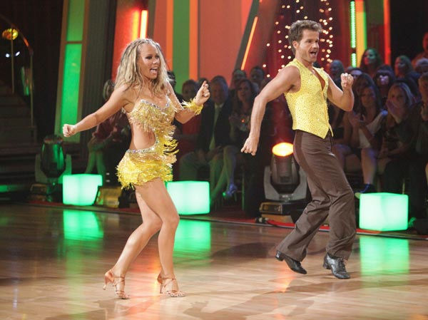 "<div class=""meta ""><span class=""caption-text "">Kendra Wilkinson and her partner Louis van Amstel received 25 out of 30 from the judges for their Samba on week six of 'Dancing With The Stars.' (ABC Photo/ Adam Taylor)</span></div>"