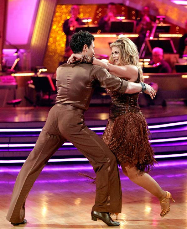 Kirstie Alley and her partner Maksim Chmerkovskiy dance Samba on week six of &#39;Dancing With The Stars.&#39; The couple received a 26 out of 30 from the judges. <span class=meta>(ABC Photo&#47; Adam Taylor)</span>