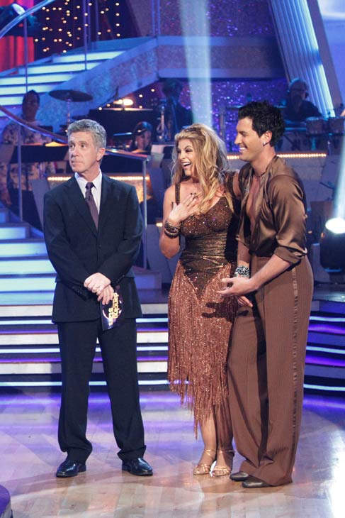 Kirstie Alley and her partner Maksim Chmerkovskiy dance Samba on week six of 'Dancing With The Stars.' The couple received a 26 out of 30 from the judges.