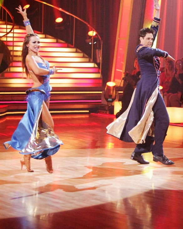 Ralph Macchio and his partner Karina Smirnoff received 24 out of 30 from the judges for their Paso Doble on week six of 'Dancing With The Stars.'