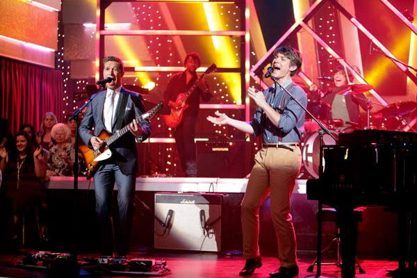 "<div class=""meta ""><span class=""caption-text "">The band Hanson performed 'MmmBop' during 'Guilty Pleasures' night on 'Dancing With The Stars' on April 25, 2011. (ABC Photo/ Adam Taylor)</span></div>"