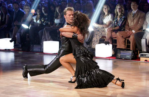 "<div class=""meta image-caption""><div class=""origin-logo origin-image ""><span></span></div><span class=""caption-text"">Chris Jericho and his partner Cheryl Burke received 22 out of 30 from the judges for their Tango on week six of 'Dancing With The Stars.' (ABC Photo/ Adam Taylor)</span></div>"