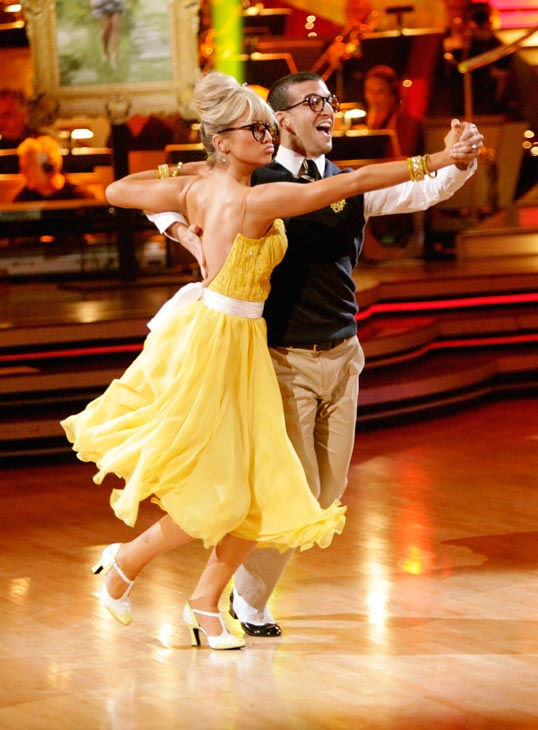 Chelsea Kane and her partner Mark Ballas received 28 out of 30 from the judges for their Quickstep on week six of 'Dancing With The Stars.'