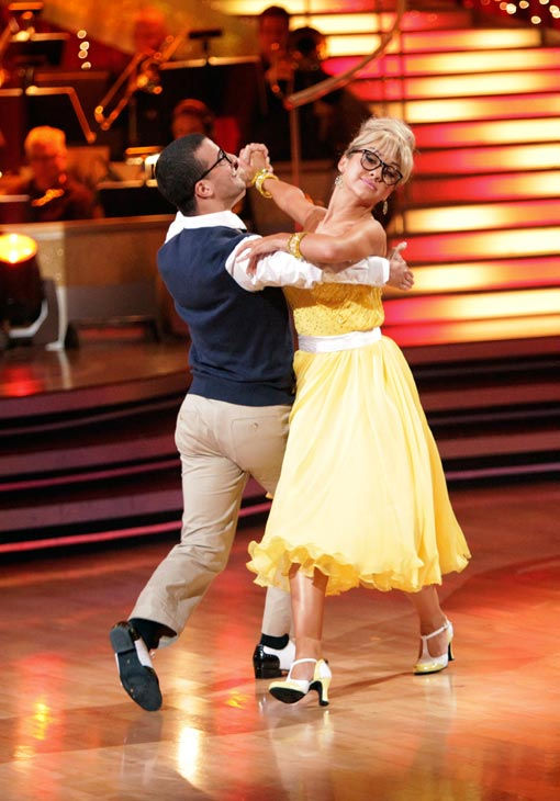 "<div class=""meta image-caption""><div class=""origin-logo origin-image ""><span></span></div><span class=""caption-text"">Chelsea Kane and her partner Mark Ballas received 28 out of 30 from the judges for their Quickstep on week six of 'Dancing With The Stars.' (ABC Photo/ Adam Taylor)</span></div>"