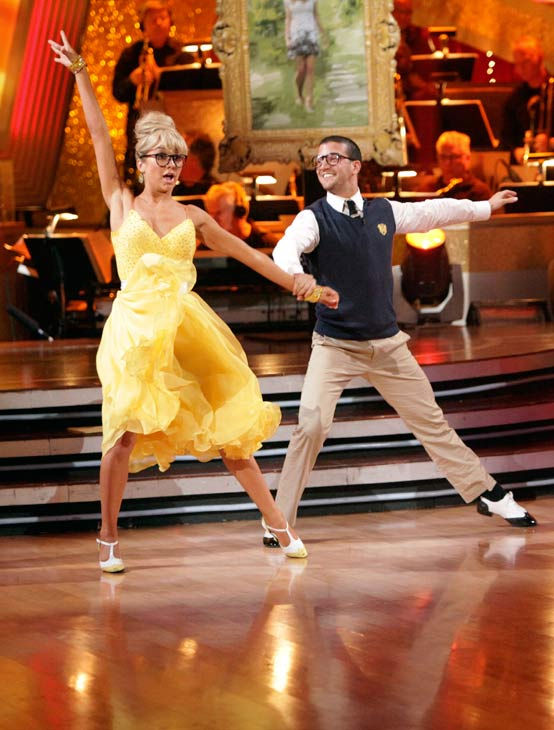Chelsea Kane and her partner Mark Ballas received 28 out of 30 from the judges for their Quickstep on week six of &#39;Dancing With The Stars.&#39; <span class=meta>(ABC Photo&#47; Adam Taylor)</span>
