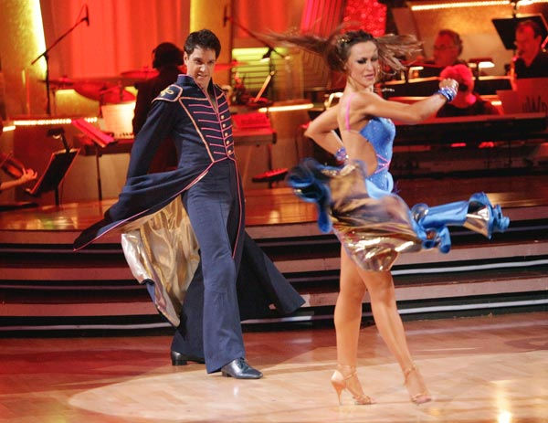Ralph Macchio and his partner Karina Smirnoff received 24 out of 30 from the judges for their Paso Doble on week six of &#39;Dancing With The Stars.&#39; <span class=meta>(ABC Photo&#47; Adam Taylor)</span>