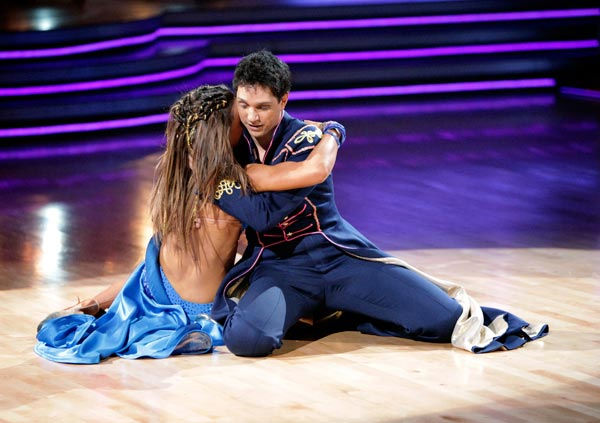 "<div class=""meta ""><span class=""caption-text "">Ralph Macchio and his partner Karina Smirnoff received 24 out of 30 from the judges for their Paso Doble on week six of 'Dancing With The Stars.' (ABC Photo/ Adam Taylor)</span></div>"