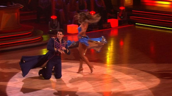 "<div class=""meta image-caption""><div class=""origin-logo origin-image ""><span></span></div><span class=""caption-text"">Ralph Macchio and his partner Karina Smirnoff received 24 out of 30 from the judges for their Paso Doble on week six of 'Dancing With The Stars.' (OTRC Photo)</span></div>"