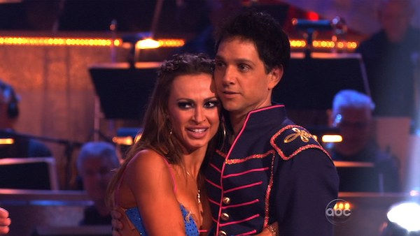 "<div class=""meta ""><span class=""caption-text "">Ralph Macchio and his partner Karina Smirnoff received 24 out of 30 from the judges for their Paso Doble on week six of 'Dancing With The Stars.' (OTRC Photo)</span></div>"