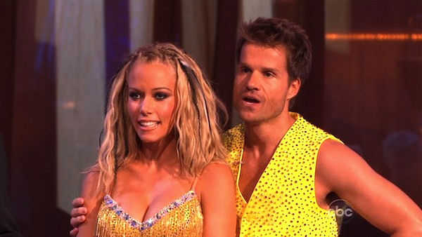 "<div class=""meta ""><span class=""caption-text "">Kendra Wilkinson and her partner Louis van Amstel received 25 out of 30 from the judges for their Samba on week six of 'Dancing With The Stars.' (OTRC Photo)</span></div>"