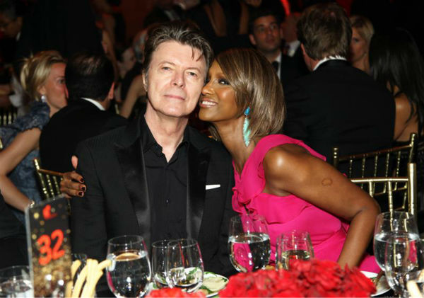 David Bowie and wife Iman appear at the premiere of &#39;Meet Joe Black&#39; in New York on Nov. 2, 1998. The two married in 1992 and have a daughter. <span class=meta>(Startraksphoto.com)</span>