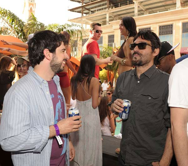 Jordan Bratman &#40;L&#41; attends TAO Beach season opening at the Venetian on April 2, 2011 in Las Vegas, Nevada. <span class=meta>(Denise Truscello)</span>