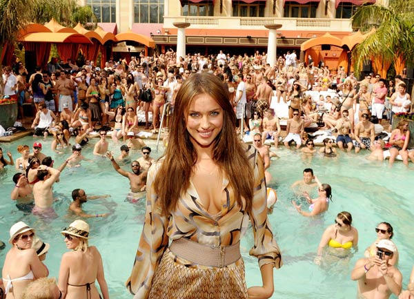Irina Shayk hosts season opening of TAO Beach at the Venetian on April 2, 2011 in Las Vegas, Nevada.  <span class=meta>(Denise Truscello)</span>