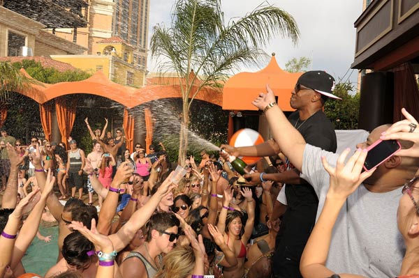 Jamie Foxx performs at TAO Beach season opening...