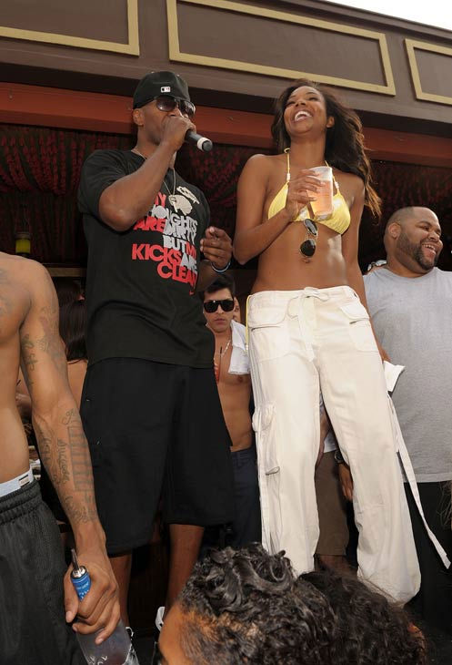 Jamie Foxx and Gabrielle Union attend TAO Beach season opening at the Venetian on April 2, 2011 in Las Vegas, Nevada.