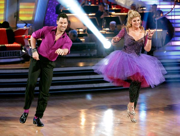 Kirstie Alley and her partner Maksim Chmerkovskiy dance Jive on week seven of 'Dancing With The Stars.' The couple received a 30 out of 40 from the judges. The two also scored a 30 out of 40 for their team Cha Cha, making their score a total of 60 out of
