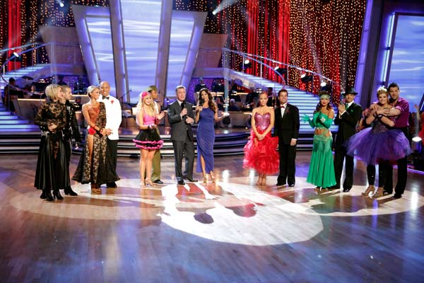 &#39;Dancing with the Stars&#39; celebrated &#39;Ballroom Greats&#39; week on Monday, May 2, 2011. &#40;Pictured: CHELSEA KANE, MARK BALLAS, KYM JOHNSON, HINES WARD, CHELSIE HIGHTOWER, ROMEO, TOM BERGERON, BROOKE BURKE, KENDRA WILKINSON, LOUIS VAN AMSTEL, KARINA SMIRNOFF, RALPH MACCHIO, KIRSTIE ALLEY, MAKSIM CHMERKOVSKIY&#41; <span class=meta>(ABC Photo&#47; Adam Taylor)</span>