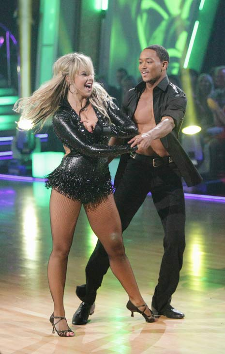 "<div class=""meta ""><span class=""caption-text "">Romeo and his partner Chelsie Hightower do a very fun and very energetic Cha Cha to Lady Gaga's 'Born this Way' for the group dance.  Their team scores a 30 out of 40. (ABC Photo/ Adam Taylor)</span></div>"