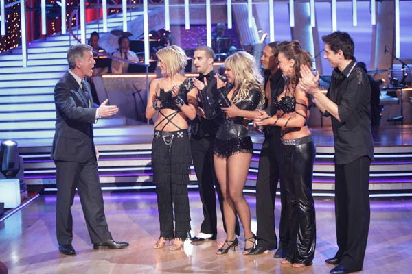Chelsea Kane, Ralph Macchio, and Romeo do a very fun and very energetic Cha Cha to Lady Gaga's 'Born this Way' for the group dance.  The team scores a 30 out of 40.
