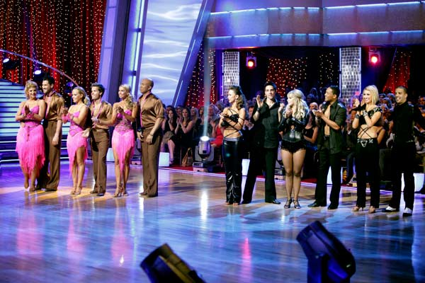 &#39;Dancing with the Stars&#39; celebrated &#39;Ballroom Greats&#39; week on Monday, May 2, 2011. &#40;Pictured:  KIRSTIE ALLEY, MAKSIM CHMERKOVSKIY, KENDRA WILKINSON, LOUIS VAN AMSTEL, KYM JOHNSON, HINES WARD, KARINA SMIRNOFF, RALPH MACCHIO, CHELSIE HIGHTOWER, ROMEO, CHELSEA KANE, MARK BALLAS &#41; <span class=meta>(ABC Photo&#47; Adam Taylor)</span>