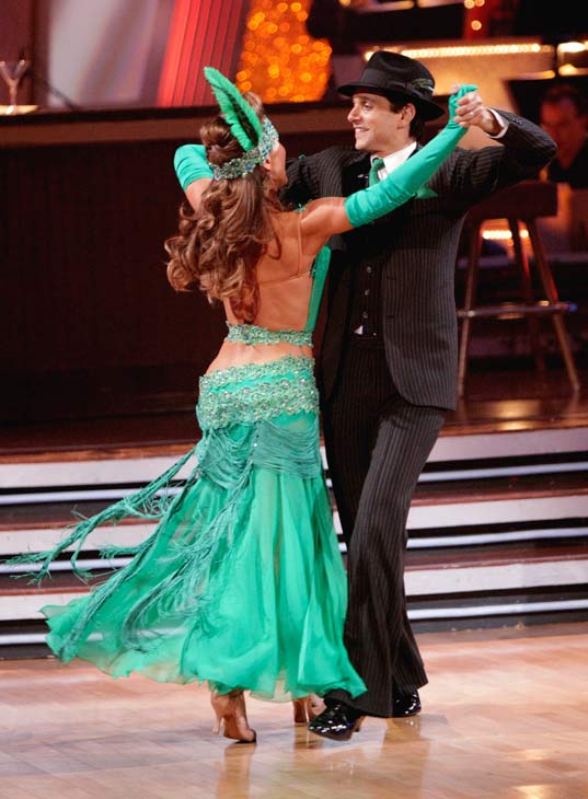 "<div class=""meta ""><span class=""caption-text "">Ralph Macchio and his partner Karina Smirnoff received 36 out of 40 from the judges for their Quickstep on week seven of 'Dancing With The Stars.' The two also scored a 30 out of 40 for their team Cha Cha, making their score a total of 66 out of 80. (ABC Photo/ Adam Taylor)</span></div>"