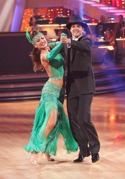 "<div class=""meta image-caption""><div class=""origin-logo origin-image ""><span></span></div><span class=""caption-text"">Ralph Macchio and his partner Karina Smirnoff received 36 out of 40 from the judges for their Quickstep on week seven of 'Dancing With The Stars.' The two also scored a 30 out of 40 for their team Cha Cha, making their score a total of 66 out of 80. (ABC Photo/ Adam Taylor)</span></div>"