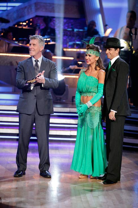 Ralph Macchio and his partner Karina Smirnoff received 36 out of 40 from the judges for their Quickstep on week seven of &#39;Dancing With The Stars.&#39; The two also scored a 30 out of 40 for their team Cha Cha, making their score a total of 66 out of 80. <span class=meta>(ABC Photo&#47; Adam Taylor)</span>