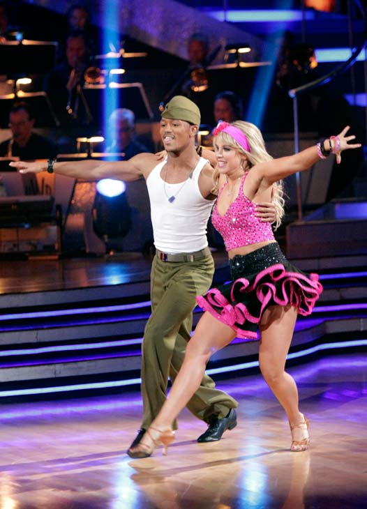 "<div class=""meta image-caption""><div class=""origin-logo origin-image ""><span></span></div><span class=""caption-text"">Romeo and his partner Chelsie Hightower received 30 out of 40 from the judges for their Samba on week seven of 'Dancing With The Stars.' The two also scored a 30 out of 40 for their team Cha Cha, making their score a total of 60 out of 80.  (ABC Photo/ Adam Taylor)</span></div>"