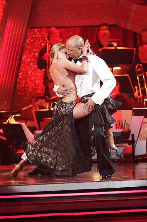 Hines Ward and his partner Kym Johnson received 36 out of 40 from the judges for their Tango on week seven of &#39;Dancing With The Stars.&#39; The two also scored a 30 out of 40 for their team Cha Cha, making their score a total of 66 out of 80. <span class=meta>(ABC Photo&#47; Adam Taylor)</span>