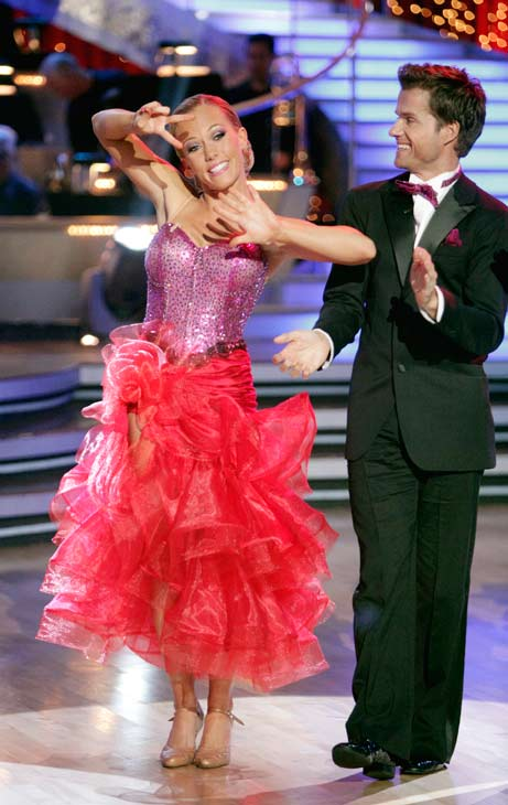 Kendra Wilkinson and her partner Louis van Amstel received 31 out of 40 from the judges for their Tango on week seven of 'Dancing With The Stars.' The two also scored a 30 out of 40 for their team Cha Cha, making their score a total of 61 out of 80.