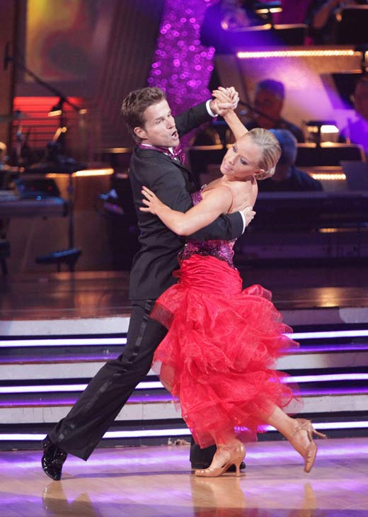 "<div class=""meta image-caption""><div class=""origin-logo origin-image ""><span></span></div><span class=""caption-text"">Kendra Wilkinson and her partner Louis van Amstel received 31 out of 40 from the judges for their Tango on week seven of 'Dancing With The Stars.' The two also scored a 30 out of 40 for their team Cha Cha, making their score a total of 61 out of 80. (ABC Photo/ Adam Taylor)</span></div>"