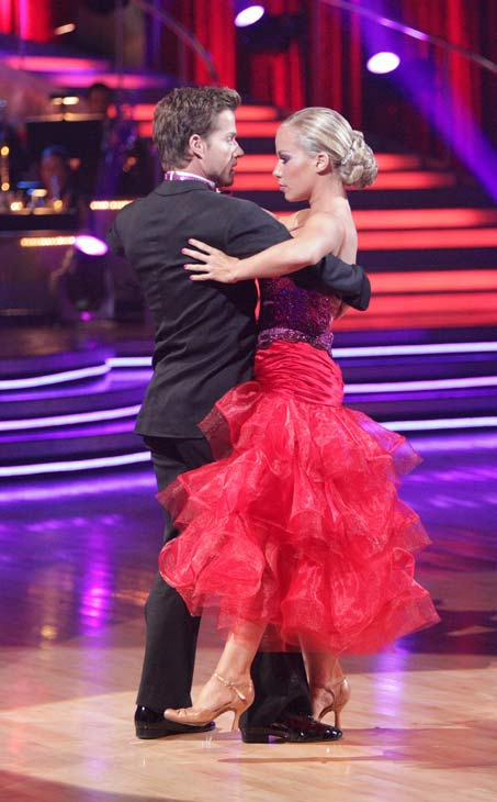 "<div class=""meta ""><span class=""caption-text "">Kendra Wilkinson and her partner Louis van Amstel received 31 out of 40 from the judges for their Tango on week seven of 'Dancing With The Stars.' The two also scored a 30 out of 40 for their team Cha Cha, making their score a total of 61 out of 80. (ABC Photo/ Adam Taylor)</span></div>"