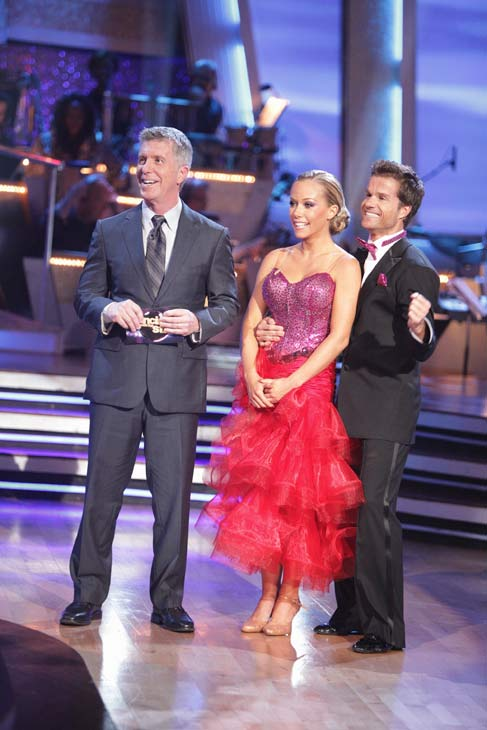 Kendra Wilkinson and her partner Louis van Amstel received 31 out of 40 from the judges for their Tango on week seven of &#39;Dancing With The Stars.&#39; The two also scored a 30 out of 40 for their team Cha Cha, making their score a total of 61 out of 80. <span class=meta>(ABC Photo&#47; Adam Taylor)</span>