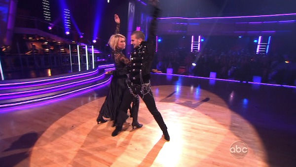 Chelsea Kane and her partner Mark Ballas received 34 out of 40 from the judges for their Paso Doble on week seven of &#39;Dancing With The Stars.&#39; The two also scored a 30 out of 40 for their team Cha Cha, making their score a total of 64 out of 80. <span class=meta>(OTRC Photo)</span>