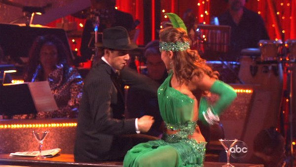 "<div class=""meta image-caption""><div class=""origin-logo origin-image ""><span></span></div><span class=""caption-text"">Ralph Macchio and his partner Karina Smirnoff received 36 out of 40 from the judges for their Quickstep on week seven of 'Dancing With The Stars.' The two also scored a 30 out of 40 for their team Cha Cha, making their score a total of 66 out of 80. (OTRC Photo)</span></div>"