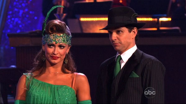 Ralph Macchio and his partner Karina Smirnoff received 36 out of 40 from the judges for their Quickstep on week seven of &#39;Dancing With The Stars.&#39; The two also scored a 30 out of 40 for their team Cha Cha, making their score a total of 66 out of 80. <span class=meta>(OTRC Photo)</span>