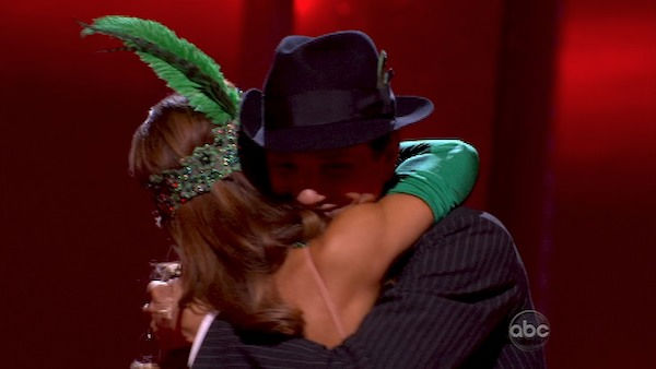 Ralph Macchio and his partner Karina Smirnoff react to being safe from elimination. The couple received a 36 out of 40 from the judges for their Quickstep on week seven of &#39;Dancing With The Stars.&#39; The two also scored a 30 out of 40 for their team Cha Cha, making their score a total of 66 out of 80 on week seven of &#39;Dancing With The Stars&#39; on Monday, May 2, 2011.  <span class=meta>(OTRC Photo)</span>