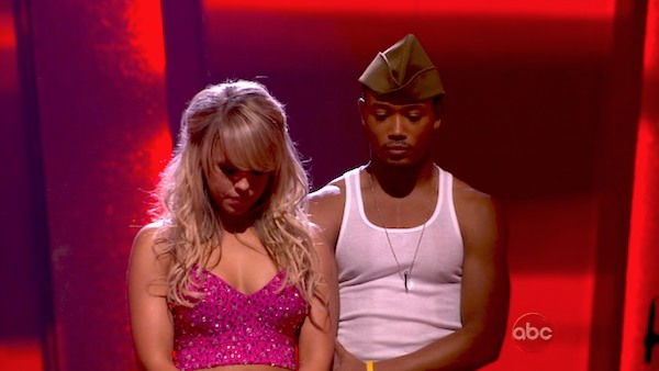 "<div class=""meta image-caption""><div class=""origin-logo origin-image ""><span></span></div><span class=""caption-text"">Romeo and his partner Chelsie Hightower await possible elimination. The couple received 30 out of 40 from the judges for their Samba on week seven of 'Dancing With The Stars.' The two also scored a 30 out of 40 for their team Cha Cha, making their score a total of 60 out of 80 on week seven of 'Dancing With The Stars' on Monday, May 2, 2011.  (OTRC Photo)</span></div>"
