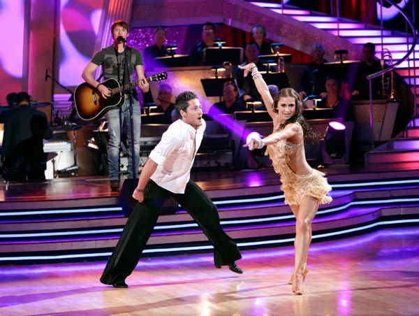"<div class=""meta image-caption""><div class=""origin-logo origin-image ""><span></span></div><span class=""caption-text"">James Blunt stopped by the 'Dancing With The Stars' stage on Tuesday, May 03, 2011 to sing his single 'I'll Be Your Man.' In honor of 'Ballroom Greats' week, Amateur U.S. Latin champions Val Chmerkovskiy and his partner, Daria Chesnokova, danced.  (ABC Photo/ Adam Taylor)</span></div>"