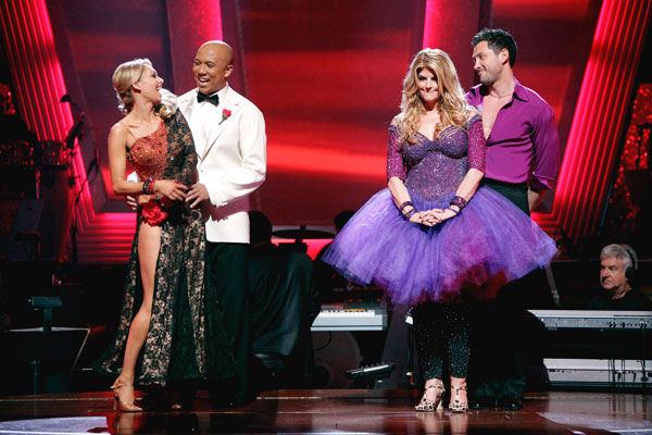 "<div class=""meta image-caption""><div class=""origin-logo origin-image ""><span></span></div><span class=""caption-text"">Hines Ward and his partner Kym Johnson react to being safe from elimination. The couple received a 36 out of 40 from the judges for their Tango on week seven of 'Dancing With The Stars.' The two also scored a 30 out of 40 for their team Cha Cha, making their score a total of 66 out of 80 on week seven of 'Dancing With The Stars' on Monday, May 2, 2011.  (ABC Photo/ Adam Taylor)</span></div>"