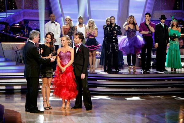 "<div class=""meta ""><span class=""caption-text "">Kendra Wilkinson and her partner Louis van Amstel react to being eliminated from ABC's hit ballroom dancing competition series on Tuesday, May 3, 2011. The pair received 31 out of 40 from the judges for their Tango on week seven of 'Dancing With The Stars.' The two also scored a 30 out of 40 for their team Cha Cha, making their score a total of 61 out of 80. (ABC Photo/ Adam Taylor)</span></div>"