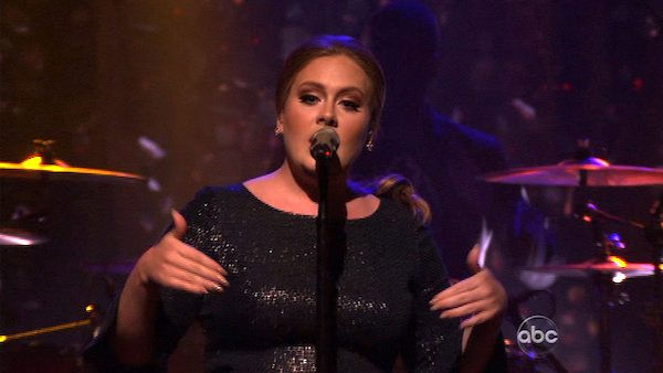 Adele took the stage to sing her hit single