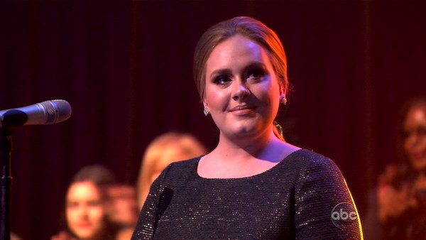 "<div class=""meta image-caption""><div class=""origin-logo origin-image ""><span></span></div><span class=""caption-text"">Adele took the stage to sing her hit single ""Rolling in the Deep"" from her album ""21"" on week eight of 'Dancing With The Stars' on Tuesday, May 11, 2011.  (ABC Photo)</span></div>"
