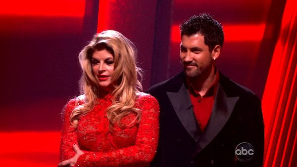 Kirstie Alley and her partner Maksim Chmerkovskiy await possible elimination. The couple received 28 out of 30 for their Argentine Tango and 25 points out of 30 for their Salsa, making their score a total of 53 out of 60 on week eight of &#39;Dancing With The Stars&#39; on Monday, May 10, 2011. <span class=meta>(ABC Photo)</span>
