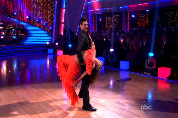 "<div class=""meta image-caption""><div class=""origin-logo origin-image ""><span></span></div><span class=""caption-text"">Ralph Macchio and his partner Karina Smirnoff dance an Argentine Tango and a Cha Cha on week eight of 'Dancing With The Stars.' The judges gave the couple 25 out of 30 for their Argentine Tango and 21 points out of 30 for their Cha Cha. The couple earned a total of 56 out of 60. (OTRC)</span></div>"