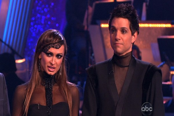 "<div class=""meta ""><span class=""caption-text "">Ralph Macchio and his partner Karina Smirnoff dance an Argentine Tango and a Cha Cha on week eight of 'Dancing With The Stars.' The judges gave the couple 25 out of 30 for their Argentine Tango and 21 points out of 30 for their Cha Cha. The couple earned a total of 56 out of 60. (OTRC)</span></div>"
