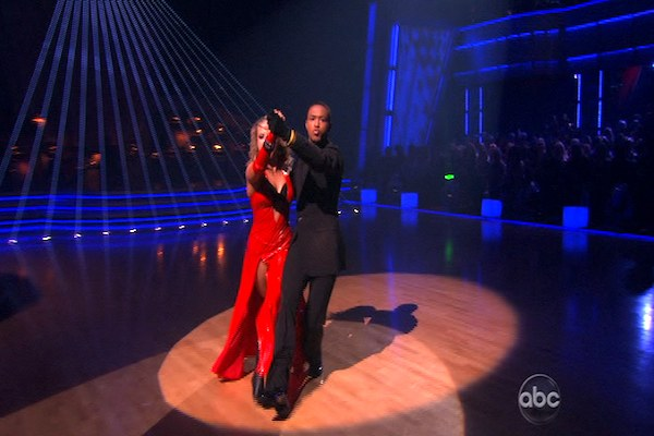 "<div class=""meta image-caption""><div class=""origin-logo origin-image ""><span></span></div><span class=""caption-text"">Romeo and his partner Chelsie Hightower dance a Tango and a Salsa on week eight of 'Dancing With The Stars.' The judges gave the couple 27 out of 30 for their Argentine Tango and 25 points out of 30 for their Salsa. The couple earned a total of 52 out of 60. (OTRC)</span></div>"