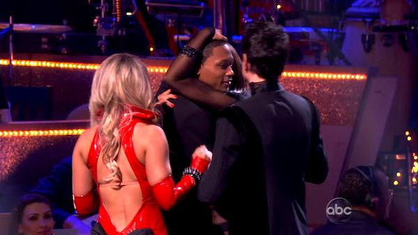 Romeo and his partner Chelsie Hightower react to being eliminated. The couple received 27 out of 30  for their Argentine Tango and 25 points out of 30 for their Salsa, making their score a total of 52  out of 60 on week eight of &#39;Dancing With The Stars&#39; on Monday, May 10, 2011.  <span class=meta>(ABC Photo)</span>